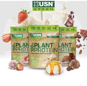 100% Plant Protein - USN 900 g Strawberry