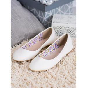 2301W Komfortní bílé baleríny dámské bez podpatku - EU 41