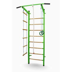 Kovové žebřiny Sport Child 230 x 66 cm zelená  + montážní prvky pro sádrokartonové zdi