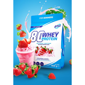 80 Whey Protein - 6PAK Nutrition 908 g White Chocolate Cherry