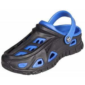 Miami dětské pantofle barva: černá-modrá;velikost (obuv / ponožky): 32