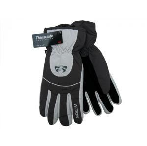 Action GS407-2 Pánské lyžařské rukavice šedé - L