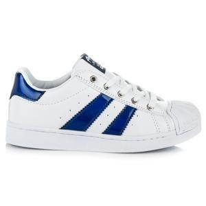 AMERICAN CLUB K16188W/N Parádní bílo-modré dětské tenisky - EU 35