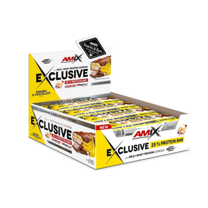 Amix Exclusive Protein Bar Příchuť: Double Dutch Chocolate, Balení(g): 40g