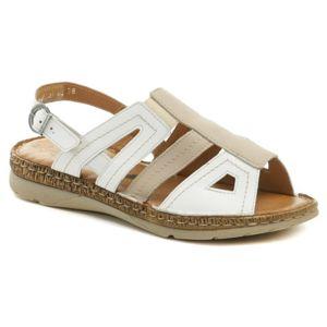 Axel AX2404 béžovo bílé dámské zdravotní sandály - EU 40