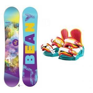Beany Meadow dívčí snowboard + vázání Beany Junior - 154 cm + S - EU 32-37 (200-235mm)