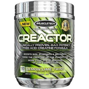 Creactor - Muscletech 220 g (120 dávok) Blue Raspberry