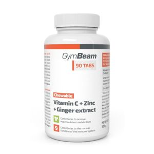 Vitamin C + Zinc + Ginger Extract - GymBeam 90 tbl.