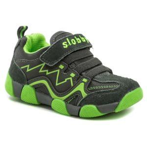 Cortina.be Slobby 47-0164-S1 šedo zelené dětské tenisky - EU 25