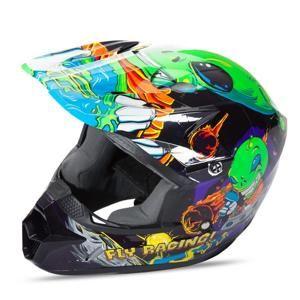 Dětská motokrosová přilba Fly Racing Kinetic Youth Invasion Barva zeleno-černá, Velikost YS (49-50)