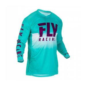Fly Racing Dres LITE 2019, (tyrkysová/fialová/bílá) - S