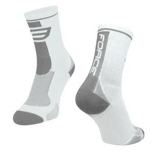 Force Ponožky LONG bílo-šedé POUZE L-XL/42-47 (VÝPRODEJ)