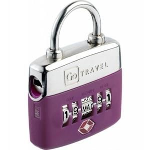 Go Travel zámek Birthday TSA Lock violet