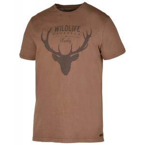 Husky Deer M hnědé pánské triko - M