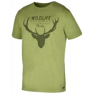 Husky Deer M tm.zelené pánské triko - M
