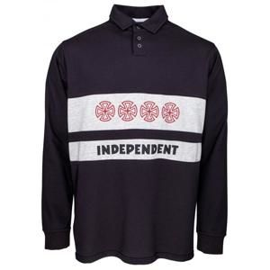 I NDEPENDENT - Crosses Polo Crew Black/Athletic Heather - L
