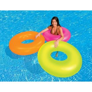Intex 59262 Kruh plavací NEON 91cm oranž. - oranžová