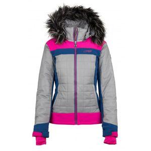 Kilpi LEDA-W růžová dámská zimní bunda - 36
