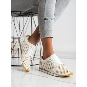 KYLIE K2017001AMA Trendy dámské tenisky bílé bez podpatku - EU 36