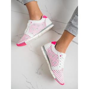KYLIE K2017001FU Pěkné tenisky růžové dámské bez podpatku - EU 36