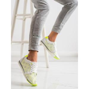 KYLIE K2017001VE Trendy dámské zelené tenisky bez podpatku - EU 37