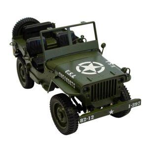 Legendární Jeep Willys 1:12 plně proporcionální, 4x4, zelený