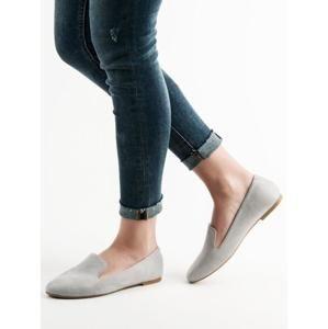 LILY SHOES 6211-5G Krásné šedo-stříbrné dámské baleríny bez podpatku - EU 40