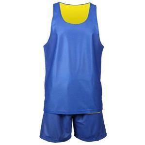 Merco BD 1 basketbalový komlet POUZE L - žlutá-modrá (VÝPRODEJ)