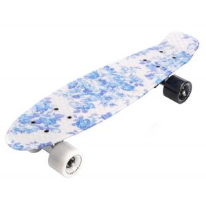 Meteor Flip Multi plastový skateboard - lebky