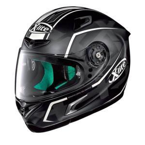 Moto helma X-Lite X-802RR Ultra Marquetry Carbon White Barva černo-bílá, Velikost XL (61-62)