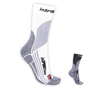 INSPORTLINE Multifunkční ponožky inSPORTline COOLMAX & ionty stříbra Barva bílá, Velikost S (30-33)