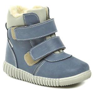 Pegres 1706 modré dětské kotníčkové Barefoot botičky - EU 21