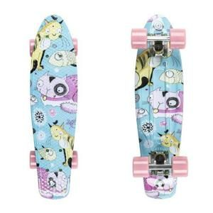 "Penny board Fish Print 22"" Barva Pineapple-Silver-Orange"