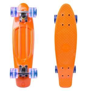 """Penny board WORKER Sturgy 22"""" se svítícími kolečky Barva oranžová"""