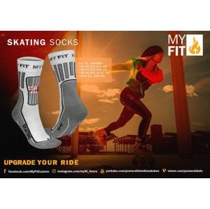 Powerslide Ponožky MY FIT Skating Socks White - EU 39-42