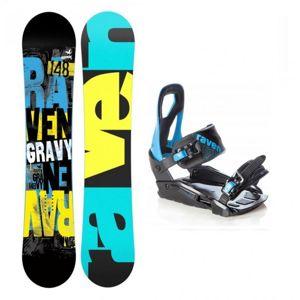 Raven Gravy 2019/20 dětský snowboard + Raven S200 blue vázání - 125 cm + M/L (EU 40-47)