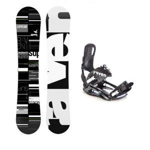 Raven Supreme + vázání Raven S220 black snowboardový set - 148 cm + XL (EU 44-47)