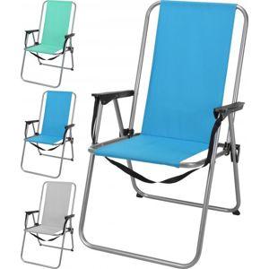 Redcliffs Skládací campingová židle UNICA 84x45x38 cm - Modrá