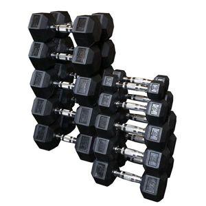 Sada jednoručních hexa činek BodySolid 2 x 10 kg