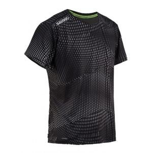 Salming Breeze Tee Men Black AOP/Black Melange - S
