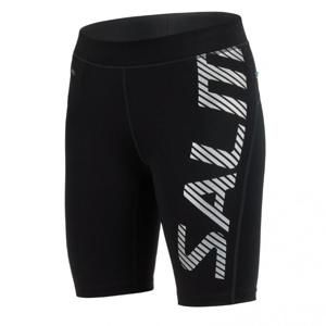 Salming Power Logo Tights Women Black/Silver Reflective - L