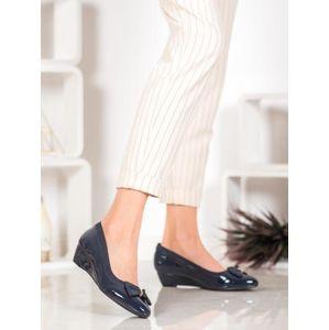 SERGIO LEONE 1151N Pěkné dámské baleríny modré na klínku - EU 37