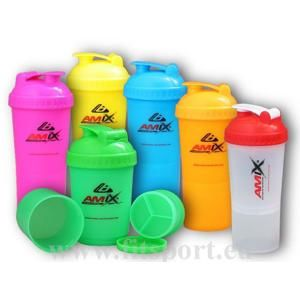 Shaker Monster Bottle NEW Amix 600ml - Růžový