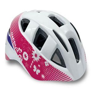 Spokey CHERUB Dětská cyklistická přilba IN-MOULD, 44-54, bílá Velikost: 44-48