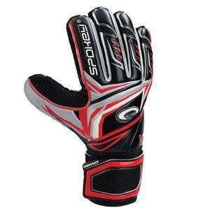 Spokey CONTACT II Brankářské rukavice černo-červené - Brankářské rukavice černo - červené č. 11