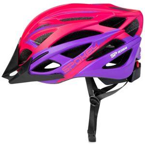 Spokey FEMME Cyklistická přilba pro dospělé IN-MOLD, 55-58 cm, růžová