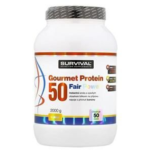 Survival Gourmet Protein 50 Fair Power 2000 g - čokoláda