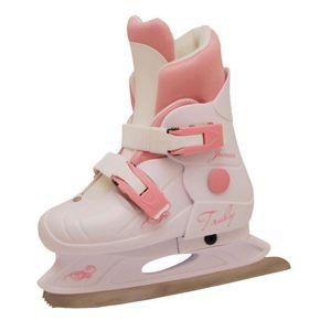 Truly Junior Růžové dívčí lední brusle POUZE M (EU 33-36) (VÝPRODEJ)