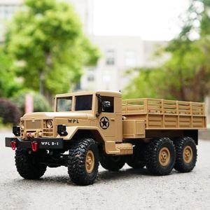 US vojenský truck M35 6x6 1:16 pískový RTR proporcionální jízda, LED