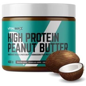 Vitalmax High Protein Peanut Butter 400g čokoláda - kokos - čokoláda - kokos